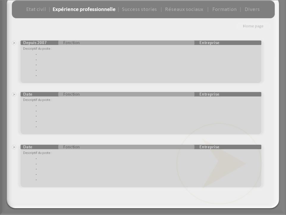 votre cv interactif powerpoint